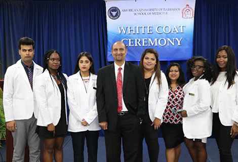 White Coat Ceremony of the American University of Barbados
